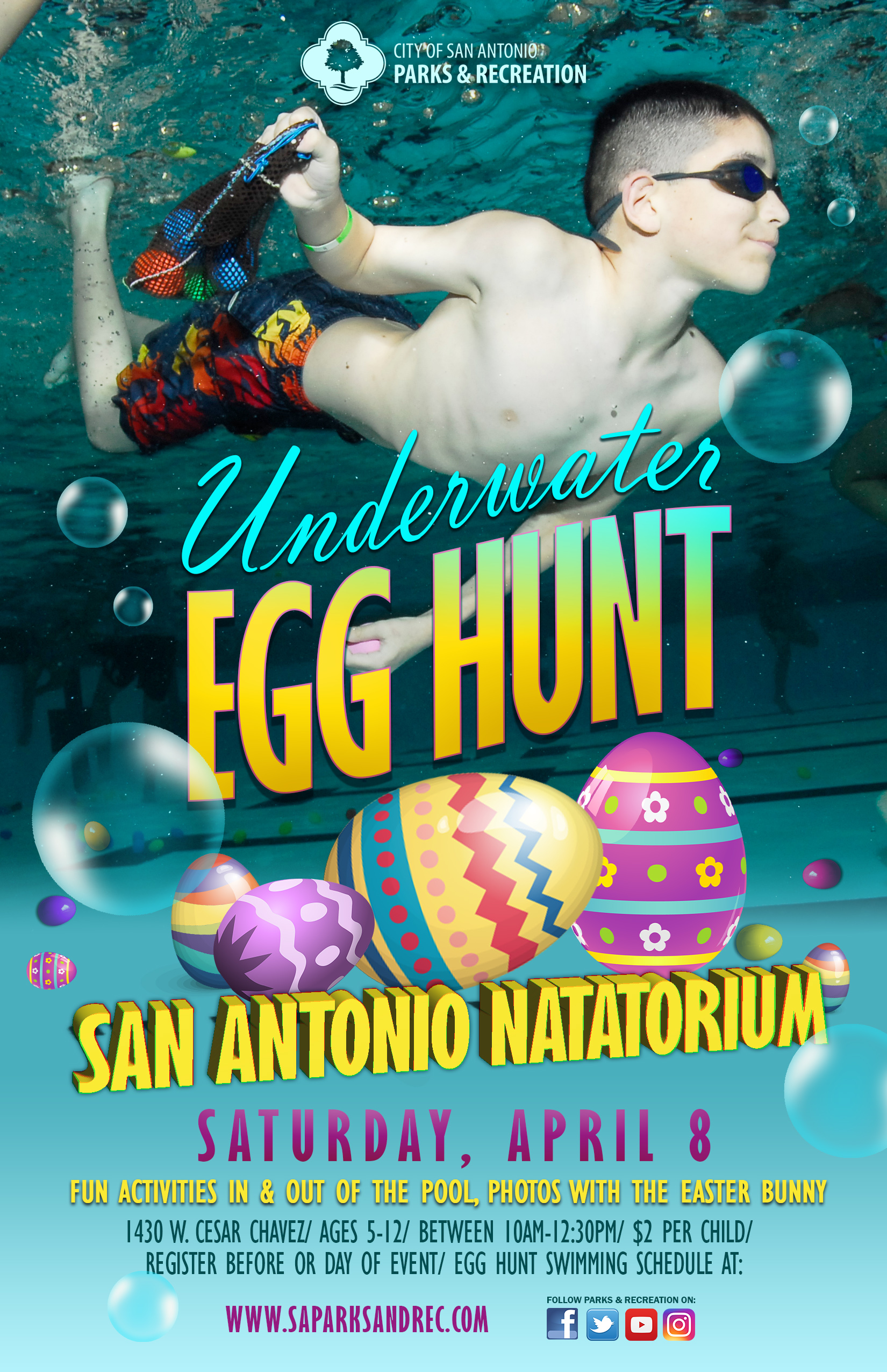 Underwater Egg Hunt The City Of San Antonio Official