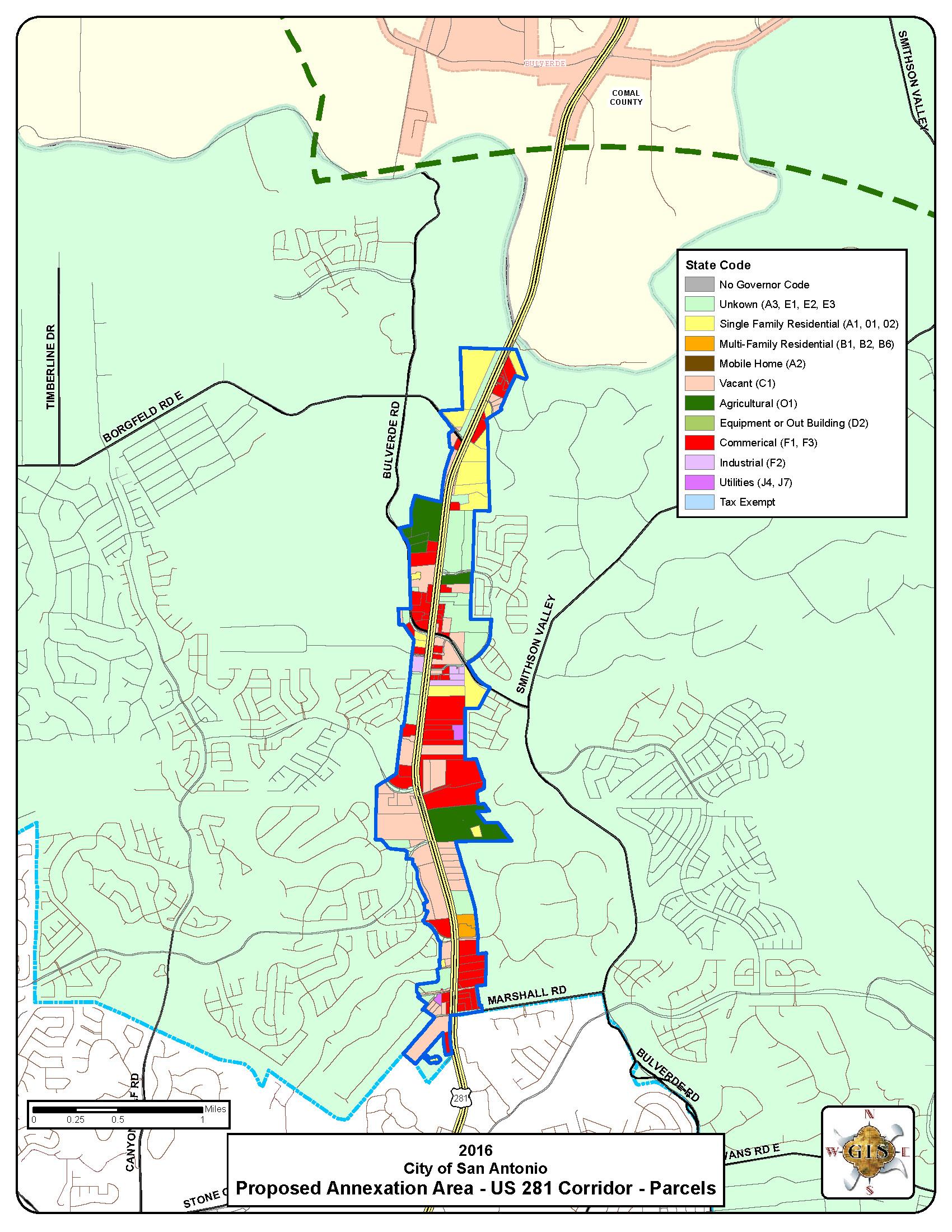 Us 281n Commercial Corridor Map