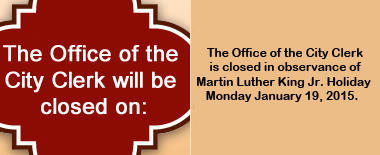 Office Holiday Closures