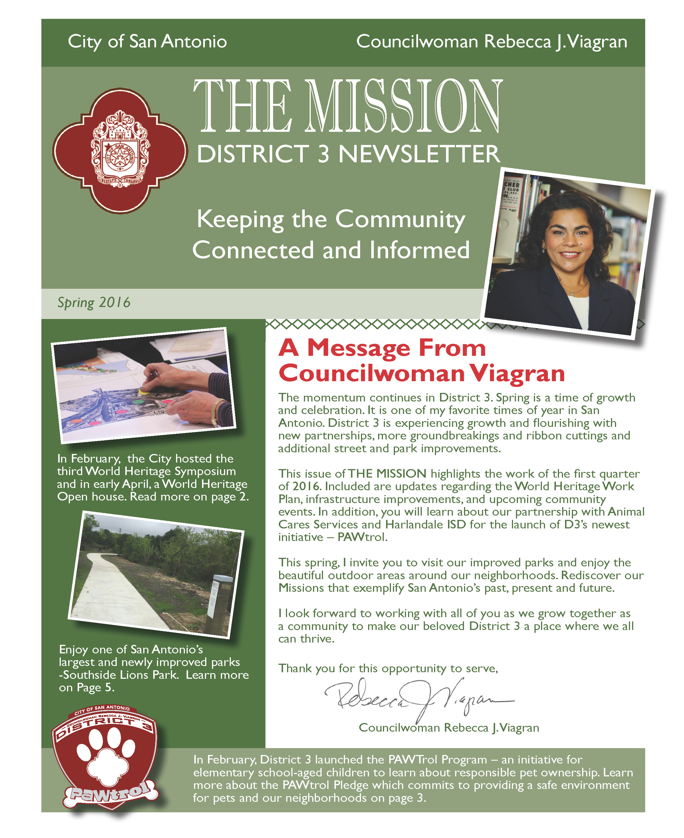 District 3 Newsletter - Spring 2016