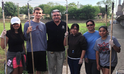 Councilman Lopez and volunteers ready to Wipe Out some graffiti.