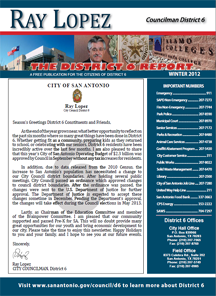 District 6 Newsletter - Winter 2012