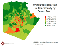 Uninsured population map