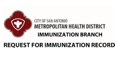 Request a copy of an immunization record.