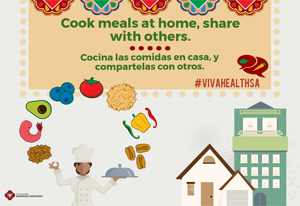 ¡VIVA Health! Cook meals at home poster