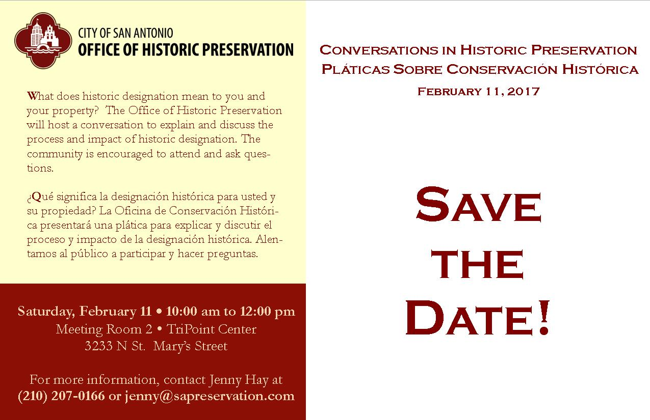 Invitation to Conversations in Historic Preservation
