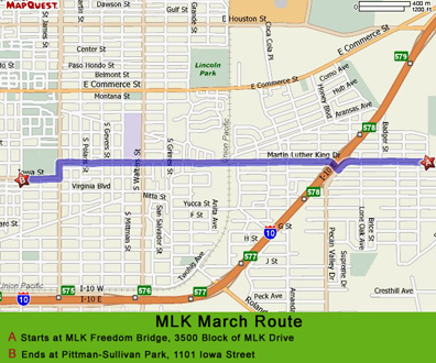 MLK March Walking Map.