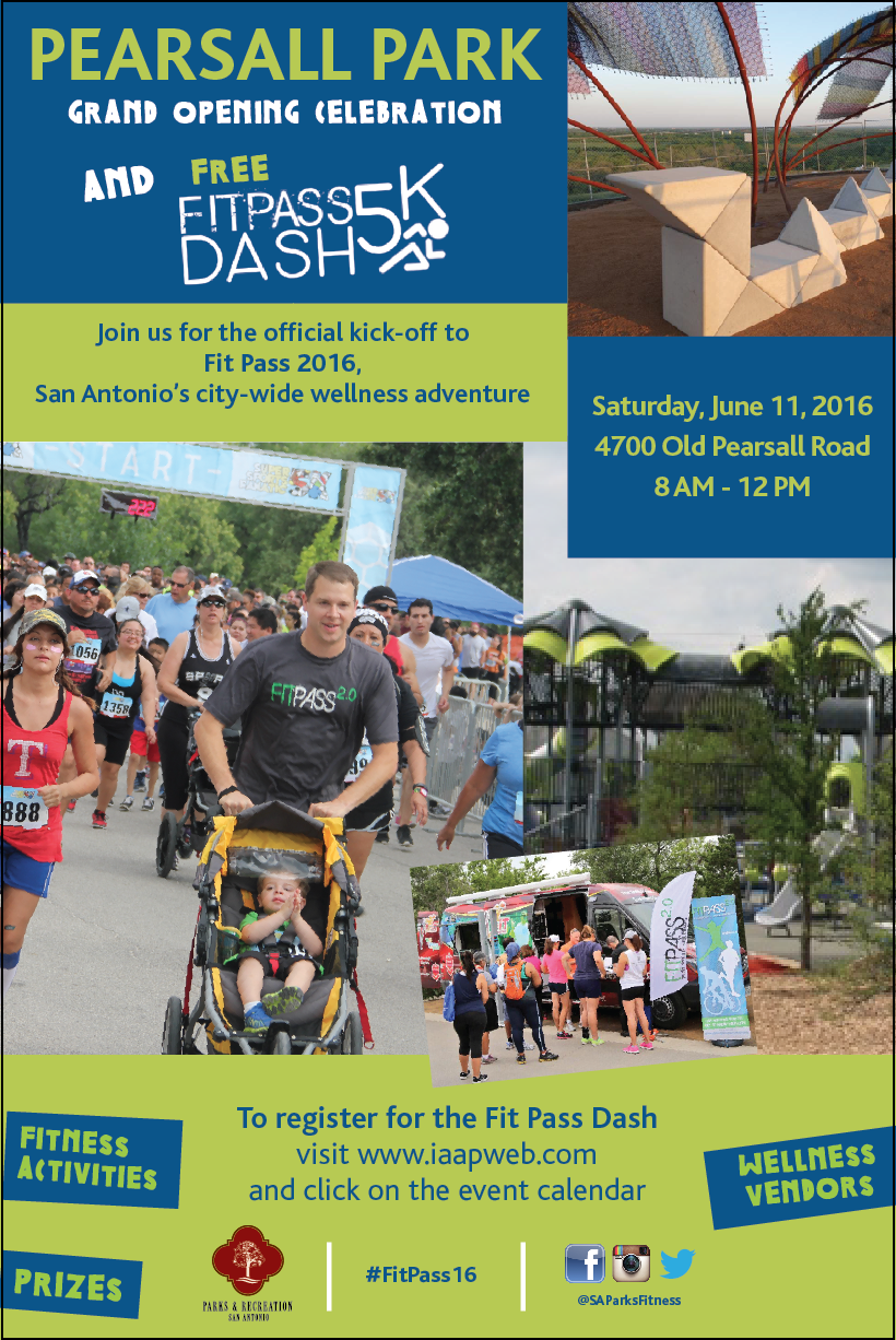Pearsall Park Grand Opening And Fit Pass 5k Dash The