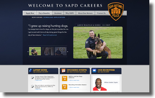 SAPD Recruiting Website