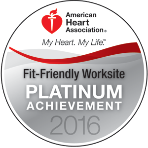 American Heart Association Fit-Friendly Worksite Platinum Achievement 2016