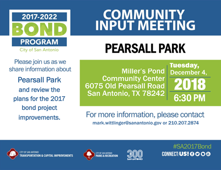 Community Input Meeting - Pearsall Park