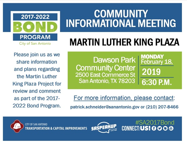 Review & comment on plans for Martin Luther King Plaza
