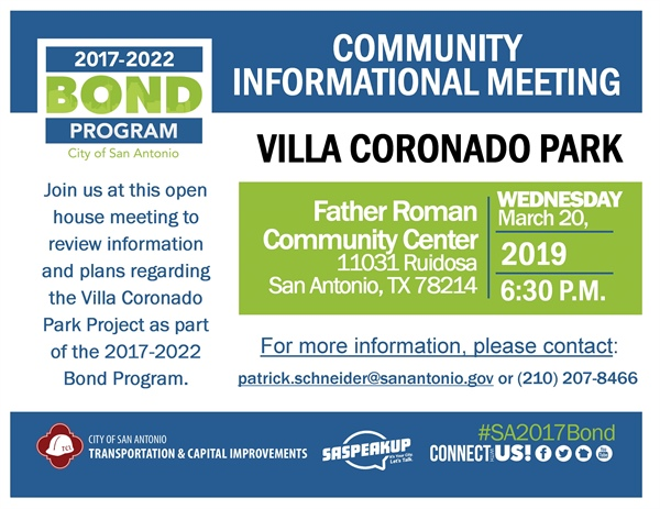 Review & comment on plans for Villa Coronado Park