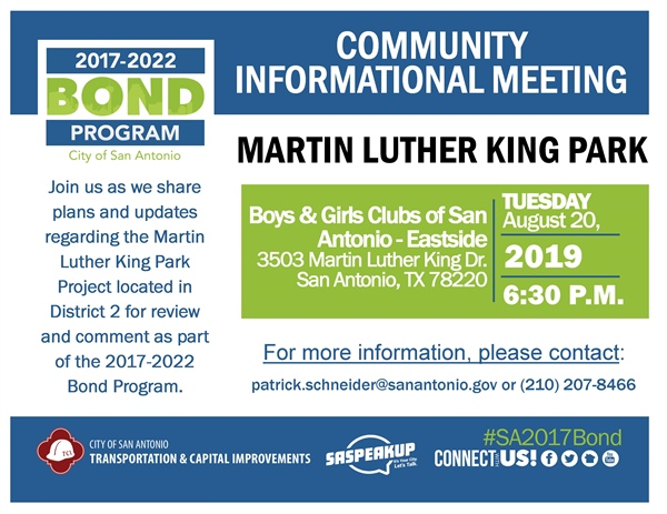 Review & comment on plans for MLK Park in District 2!