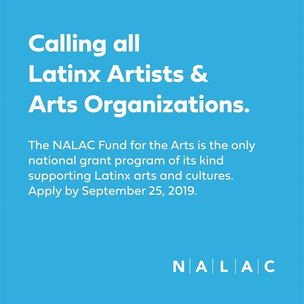 14th Cycle of NALAC Fund for the Arts is now OPEN