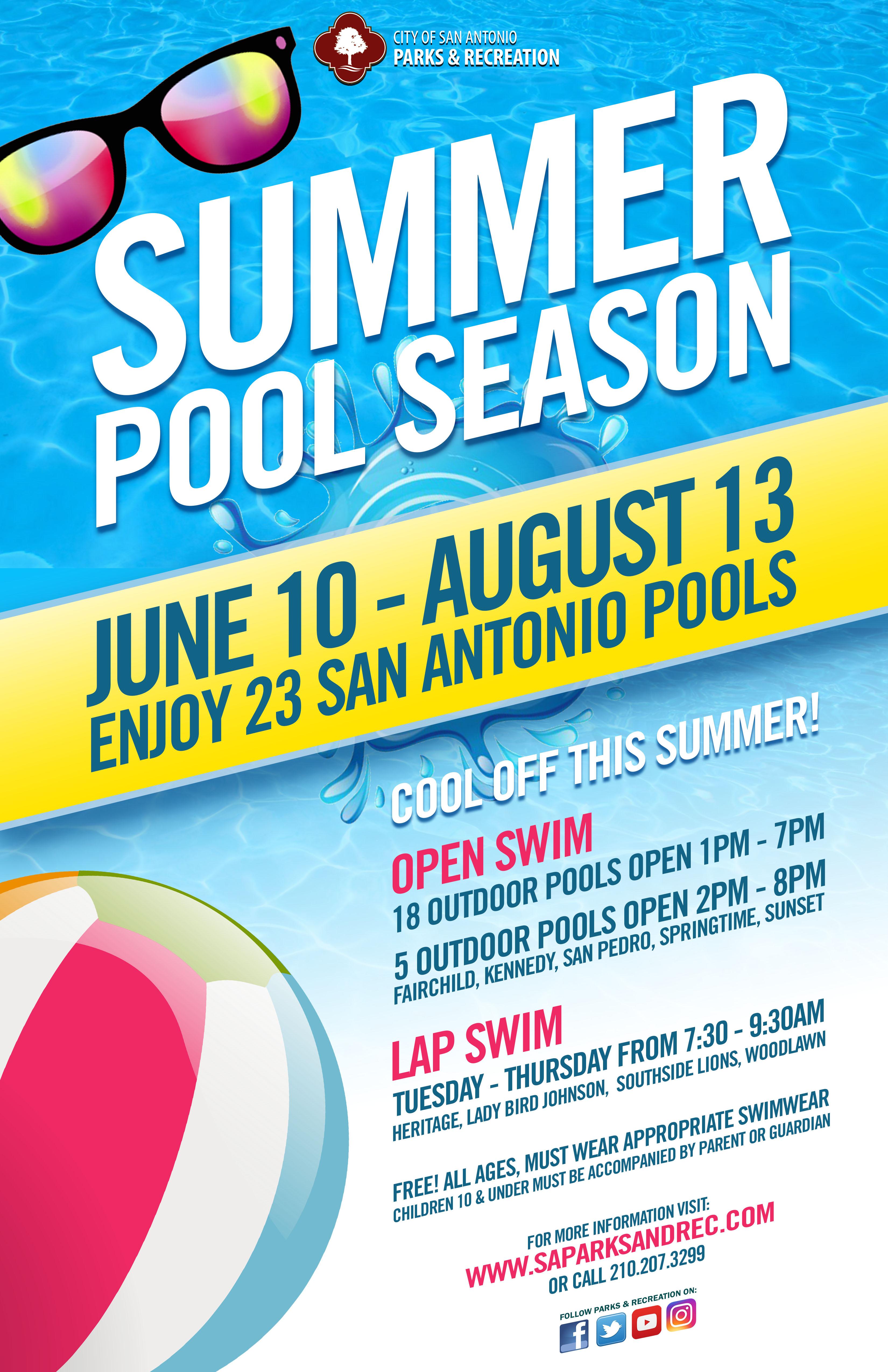 Summer Pool Season Open - The City of San Antonio - Official City ...