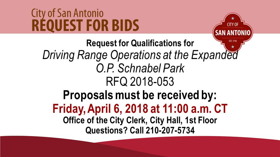 Request for Qualifications - The City of San Antonio