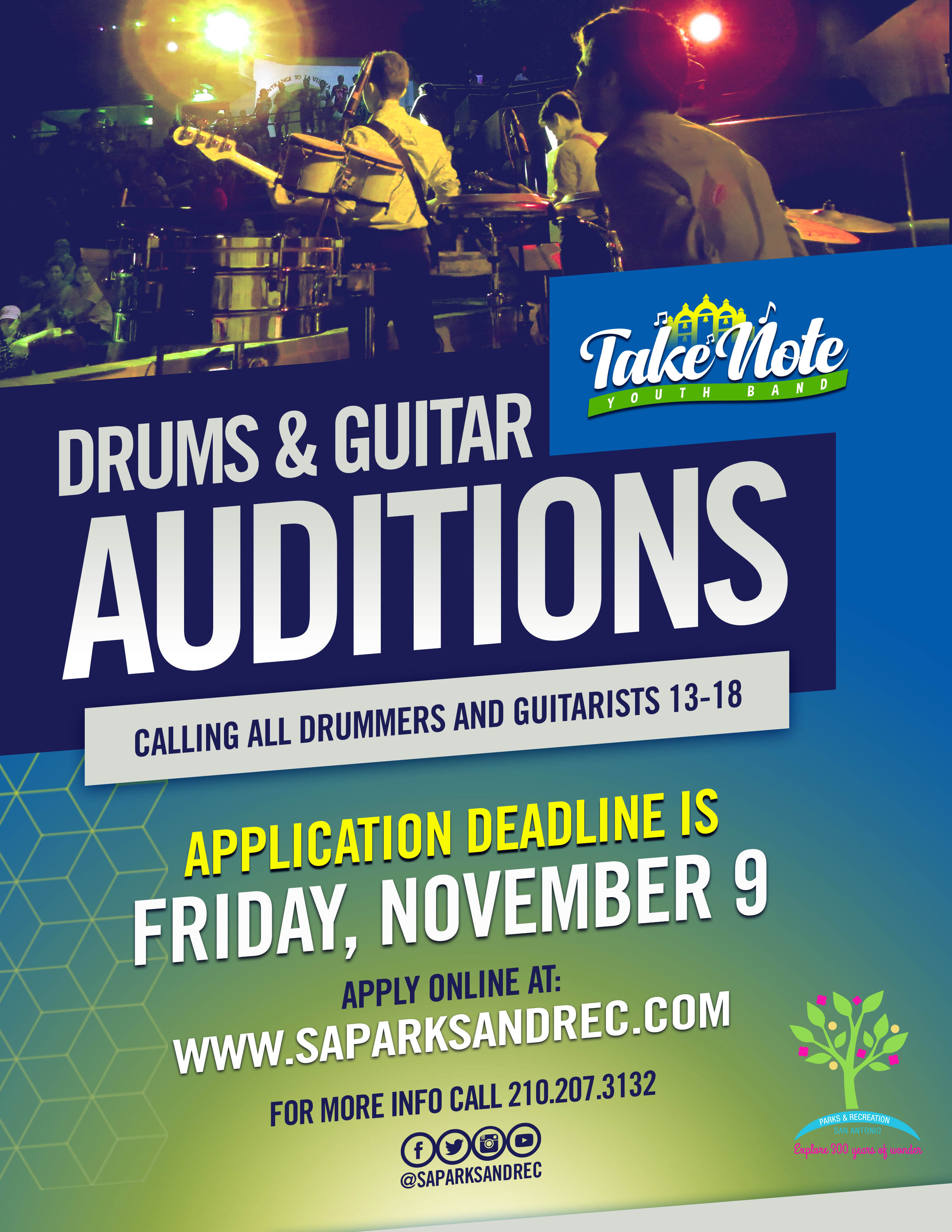 Take Note Youth Band Auditions - The City of San Antonio