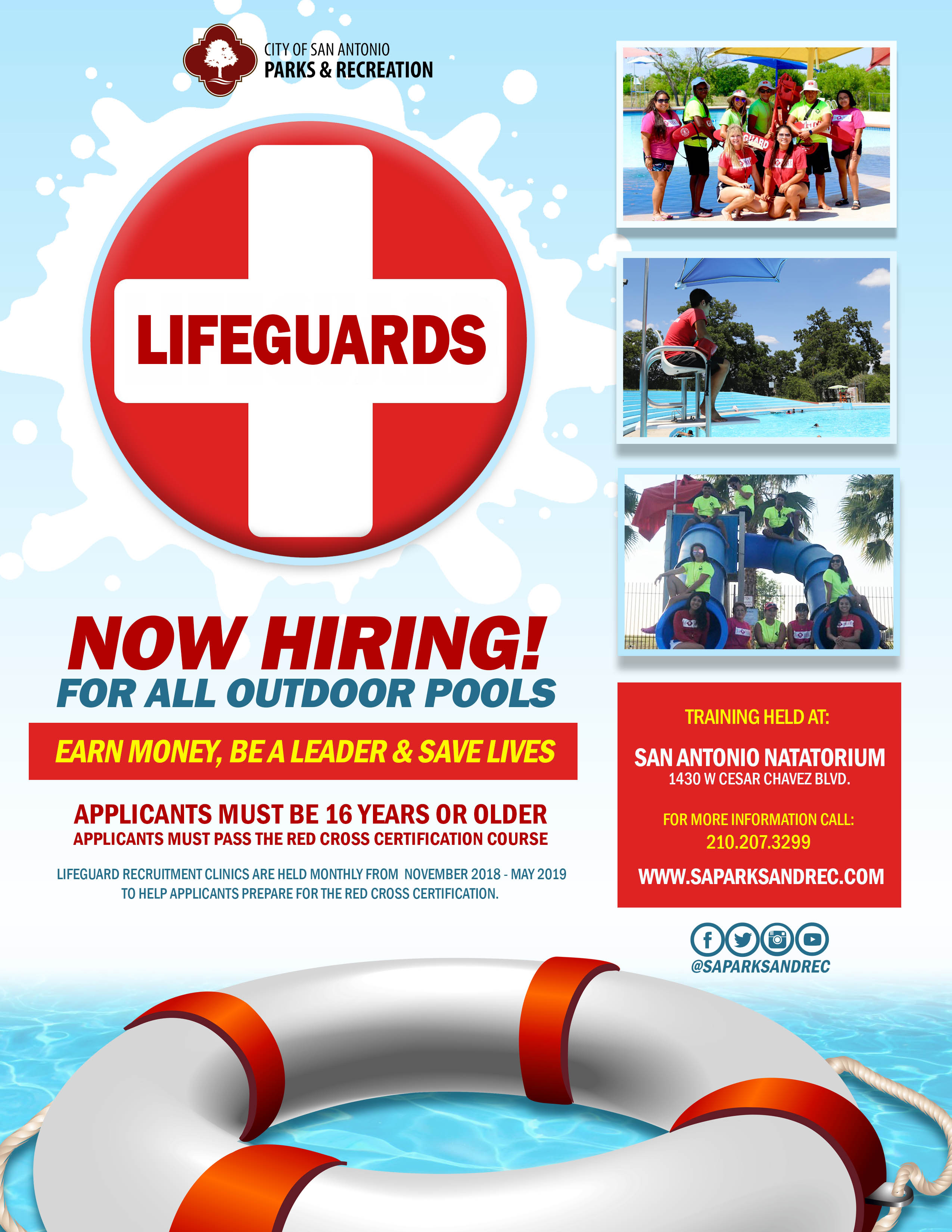 Now Hiring Lifeguards! - The City of San Antonio - Official
