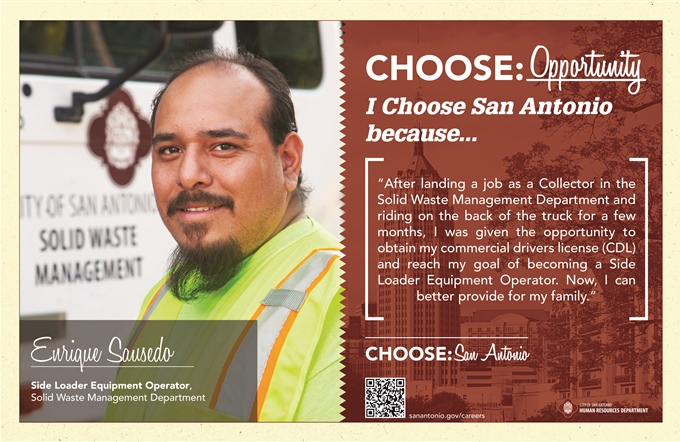 Enrique Sausedo · Side Loader Equipment Operator · Solid Waste Management Department