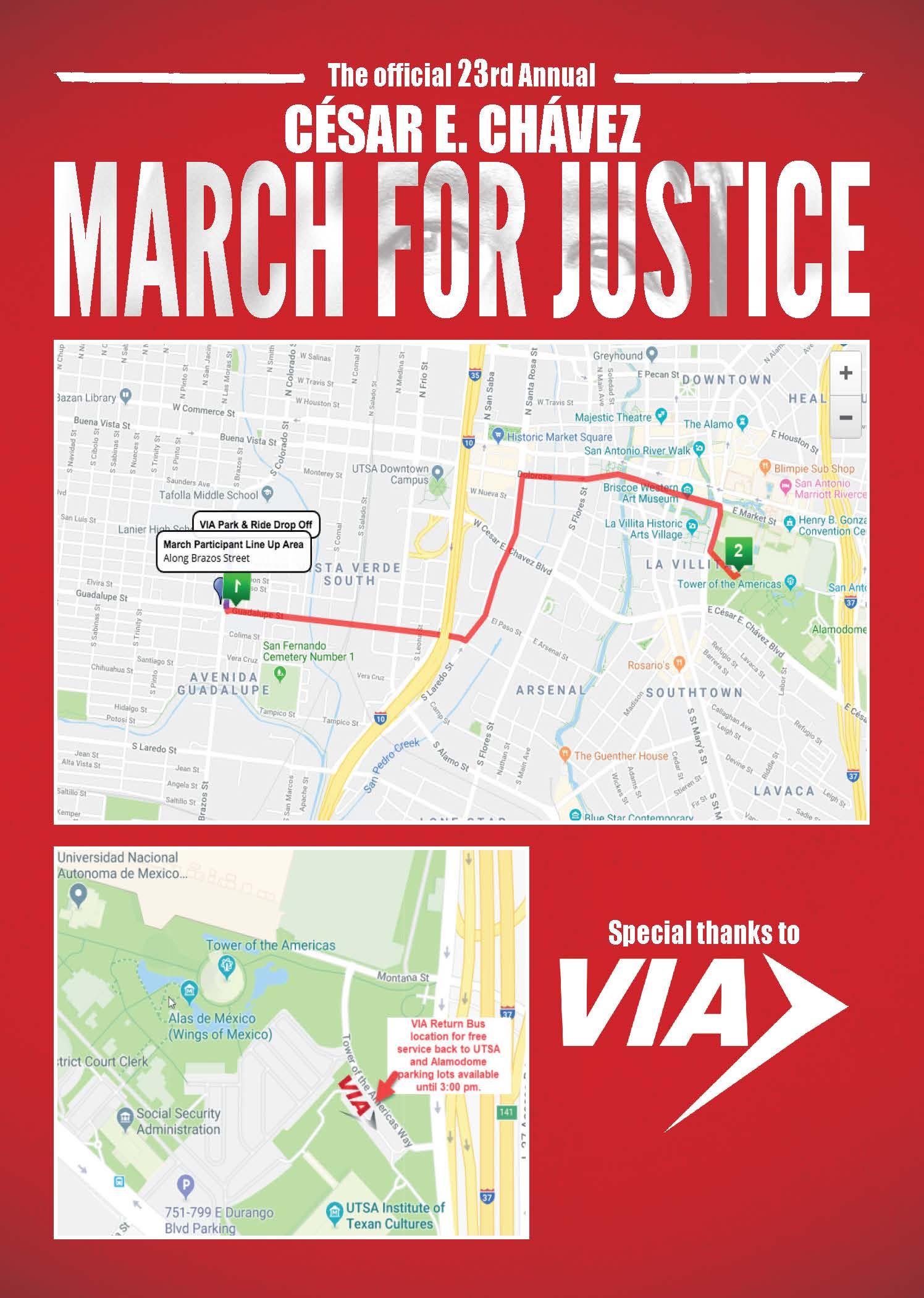Cesar Chavez March Map