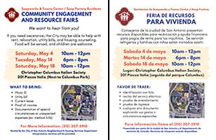 Community Engagement and Resource Fairs / Feria de Recursos Para Vivienda