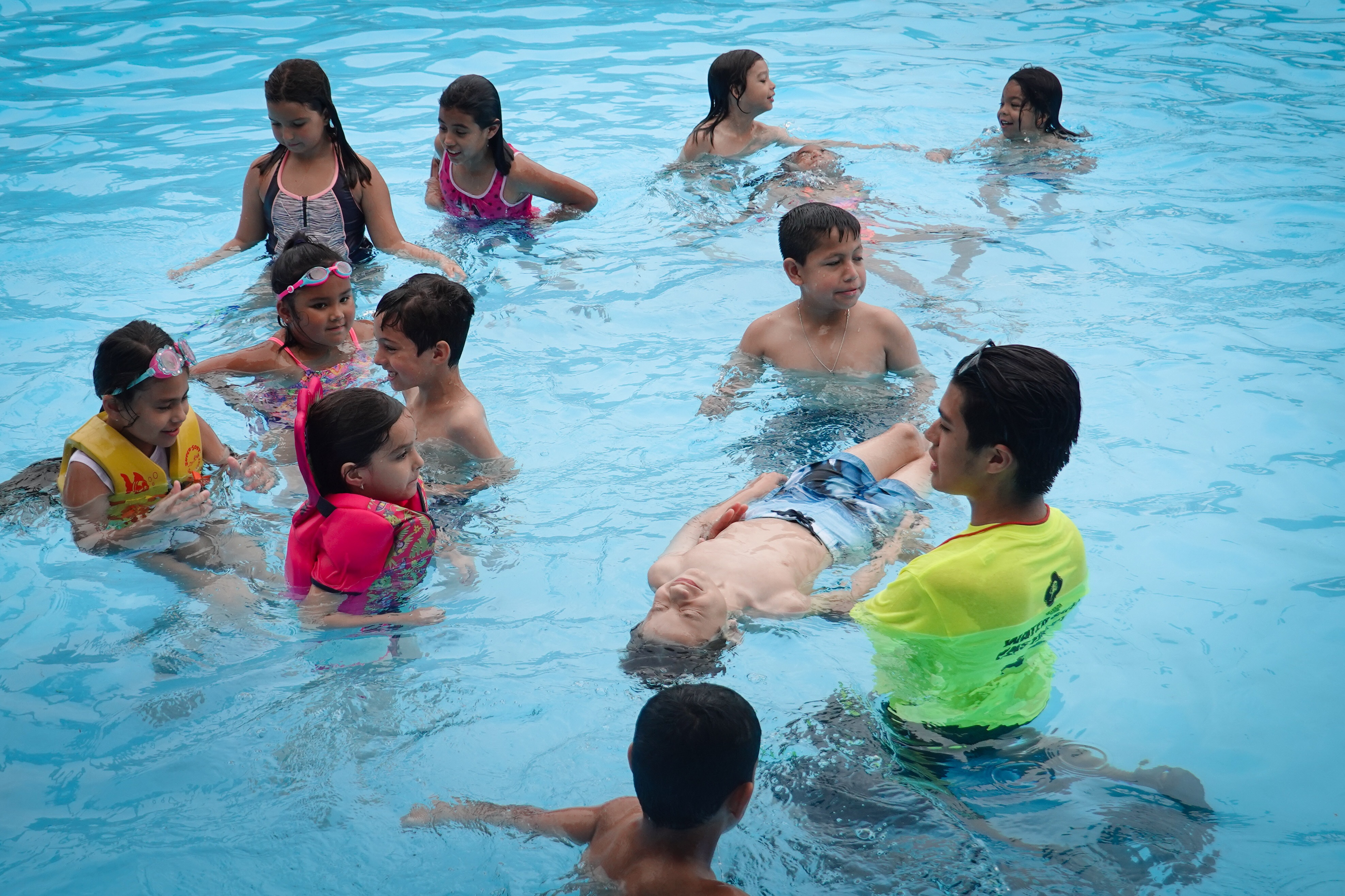 Youth swimming lesson