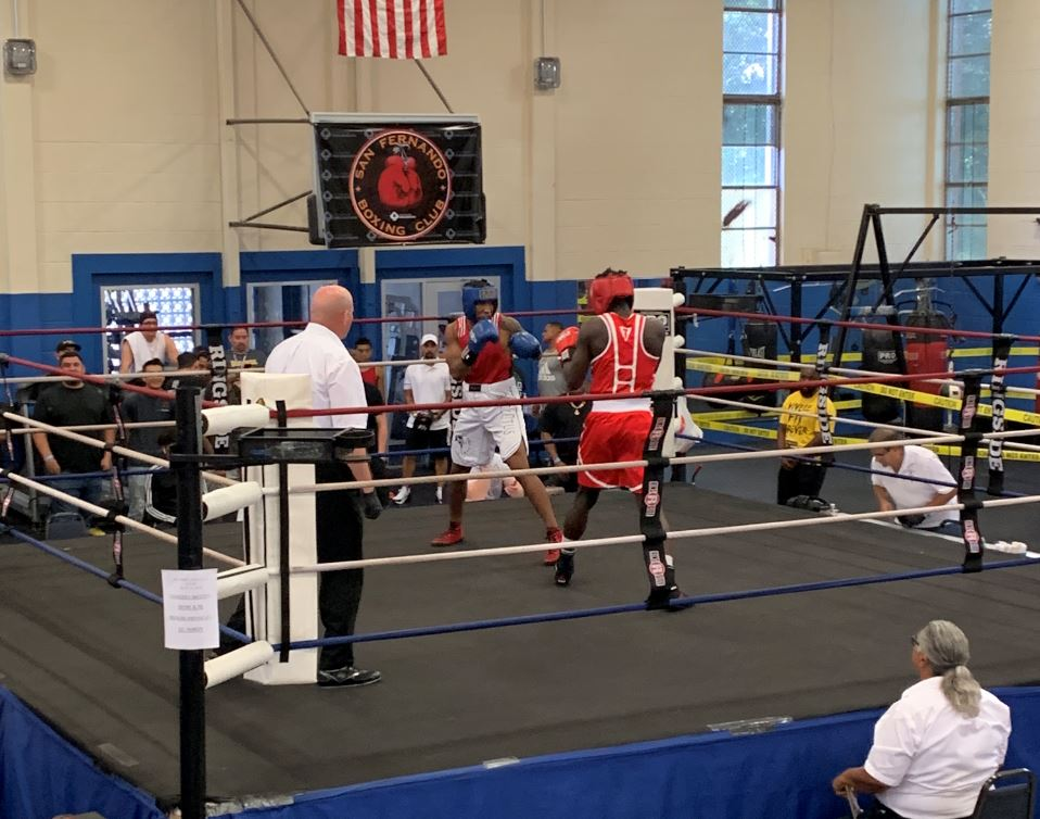 Older youth boxing match