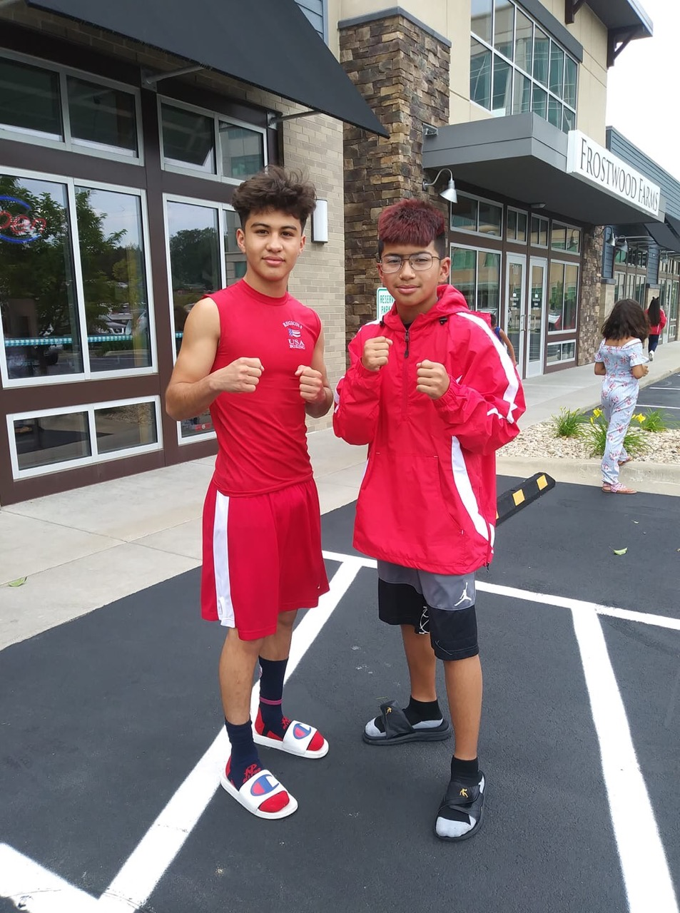 Two youth boxers