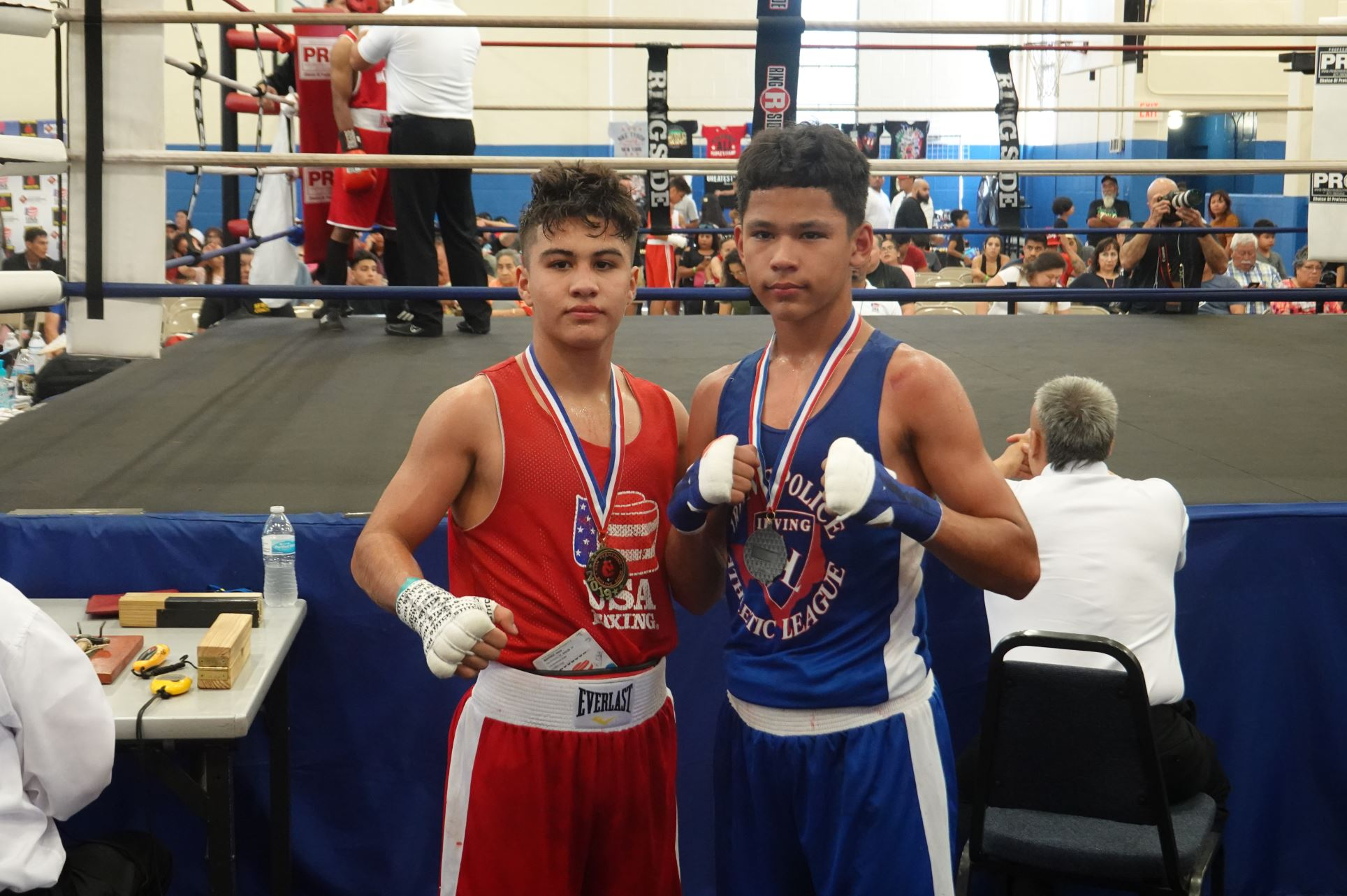 Youth boxing match winners