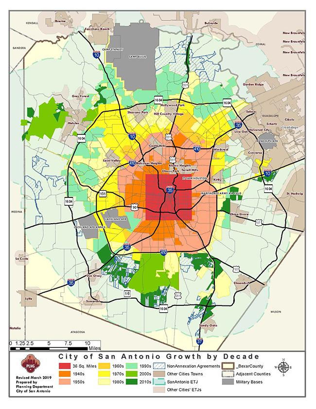 GrowthDecade03152019map small - City Of San Antonio Permit Application