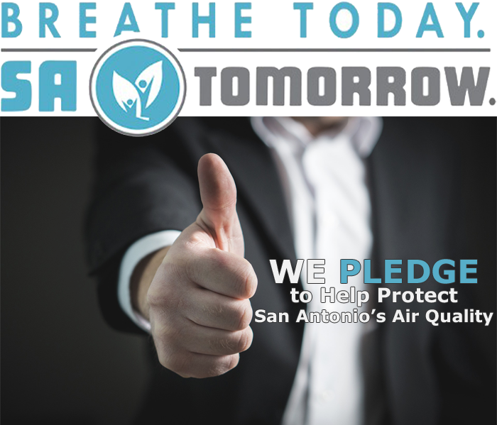 Breathe Today. SA Tomorrow. We pledge to help protect San Antonio's Air Quality.
