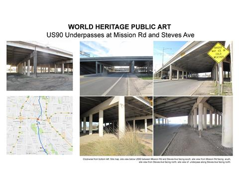 US-90 Highway Underpass at Mission Road and Steves Avenue