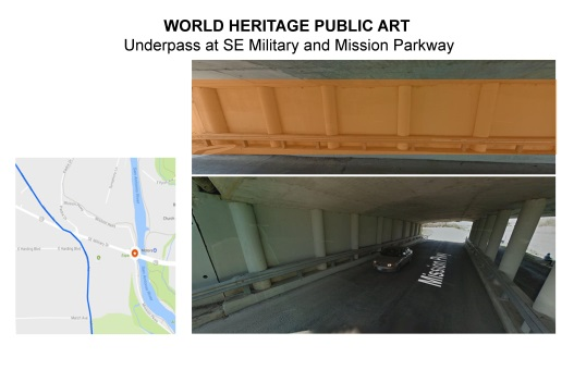 Underpass at SE Military and Mission Parkway