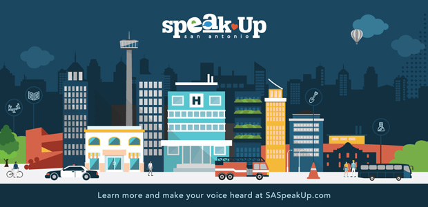 Speak Up San Antonio - Learn more and make your voice heard at SASpeakUp.com