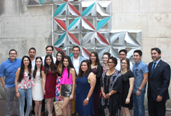 Students from UTSA CACP joined District 1 Councilman Roberto C. Treviño, CCDO, the AIA San Antonio Chapter and Centro San Antonio to unveil a public art installation on the Houston Street Parking Garage.