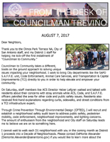 District 1 Newsletter - August 7, 2017