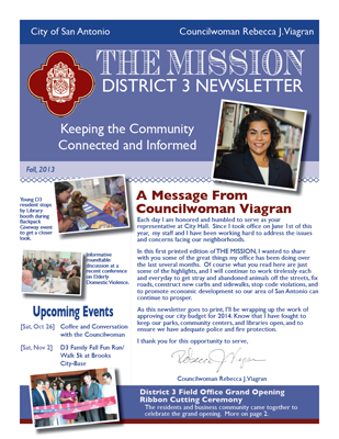 District 3 Newsletter - Fall 2013