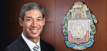Ron Nirenberg and the City seal
