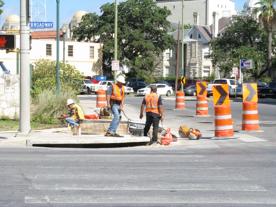 Crosswalk under construction