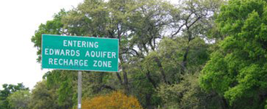 Entering the Edwards Aquifer Recharge Zone