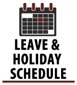 Leave & Holiday Schedule
