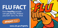 Flu Fact: Even healthy people can get the flu.