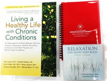 Living a Healthy Life with Chronic Conditions book, relaxation CD and journal