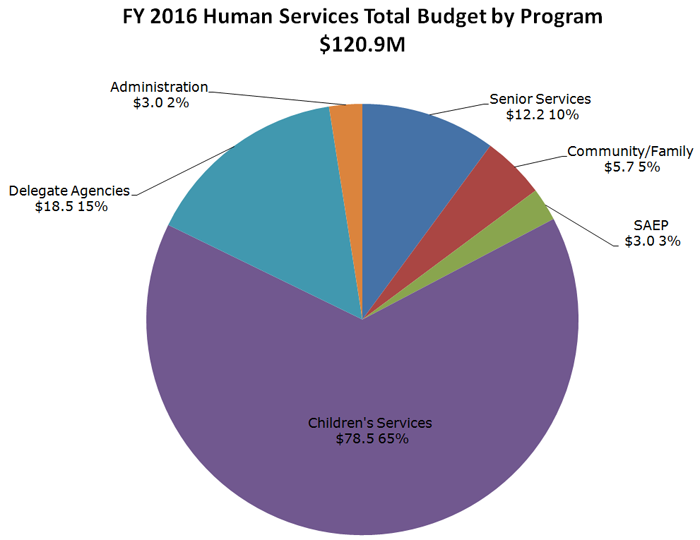 Funding and Budget pie chart