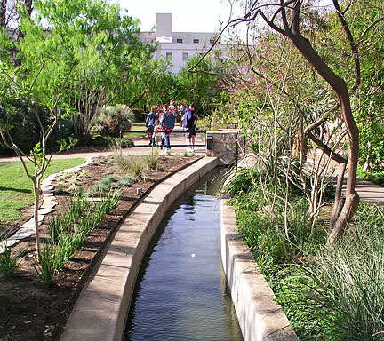 Reconstructed Segment Of The Acequia Del Alamo