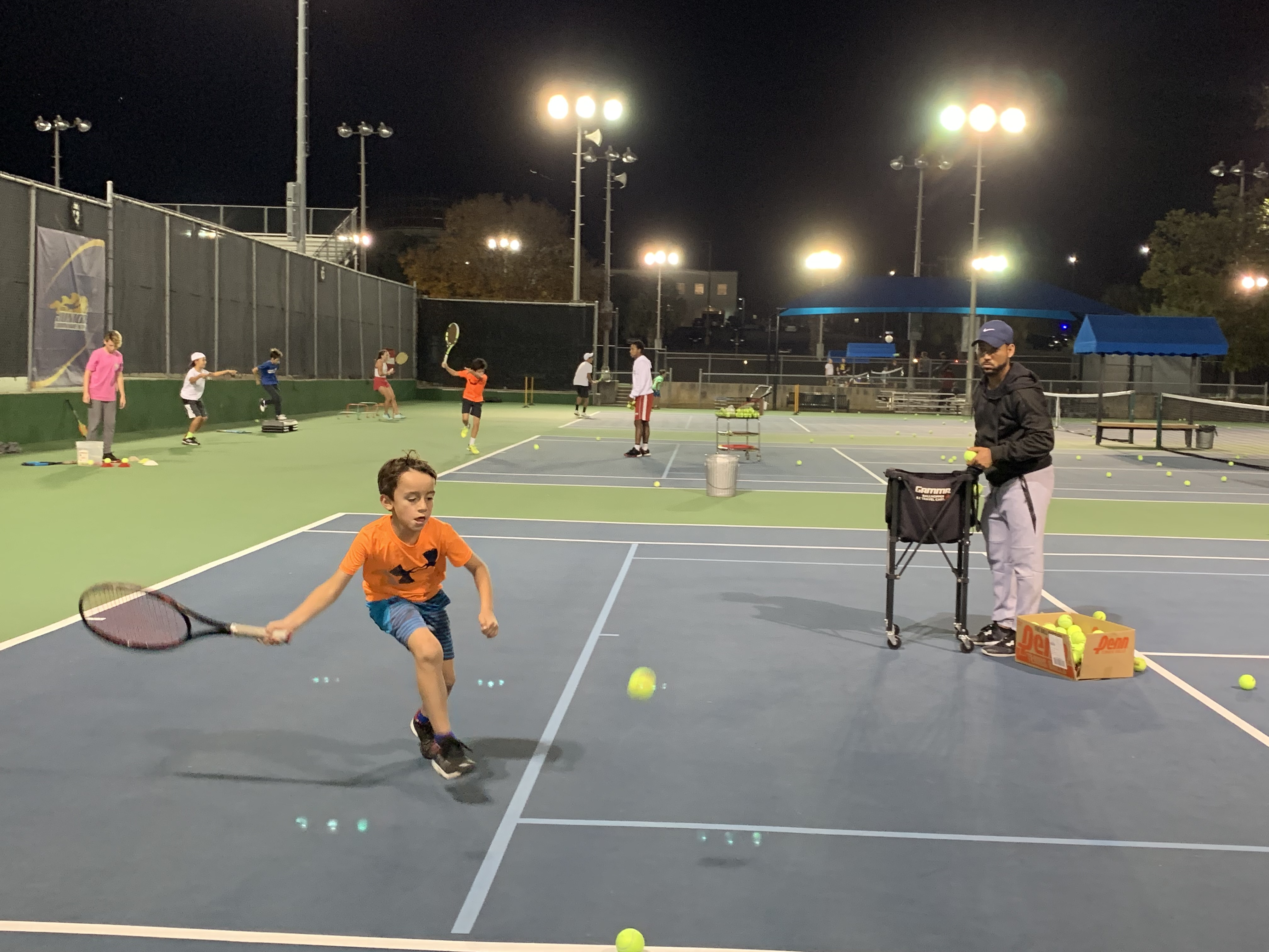Youth tennis class