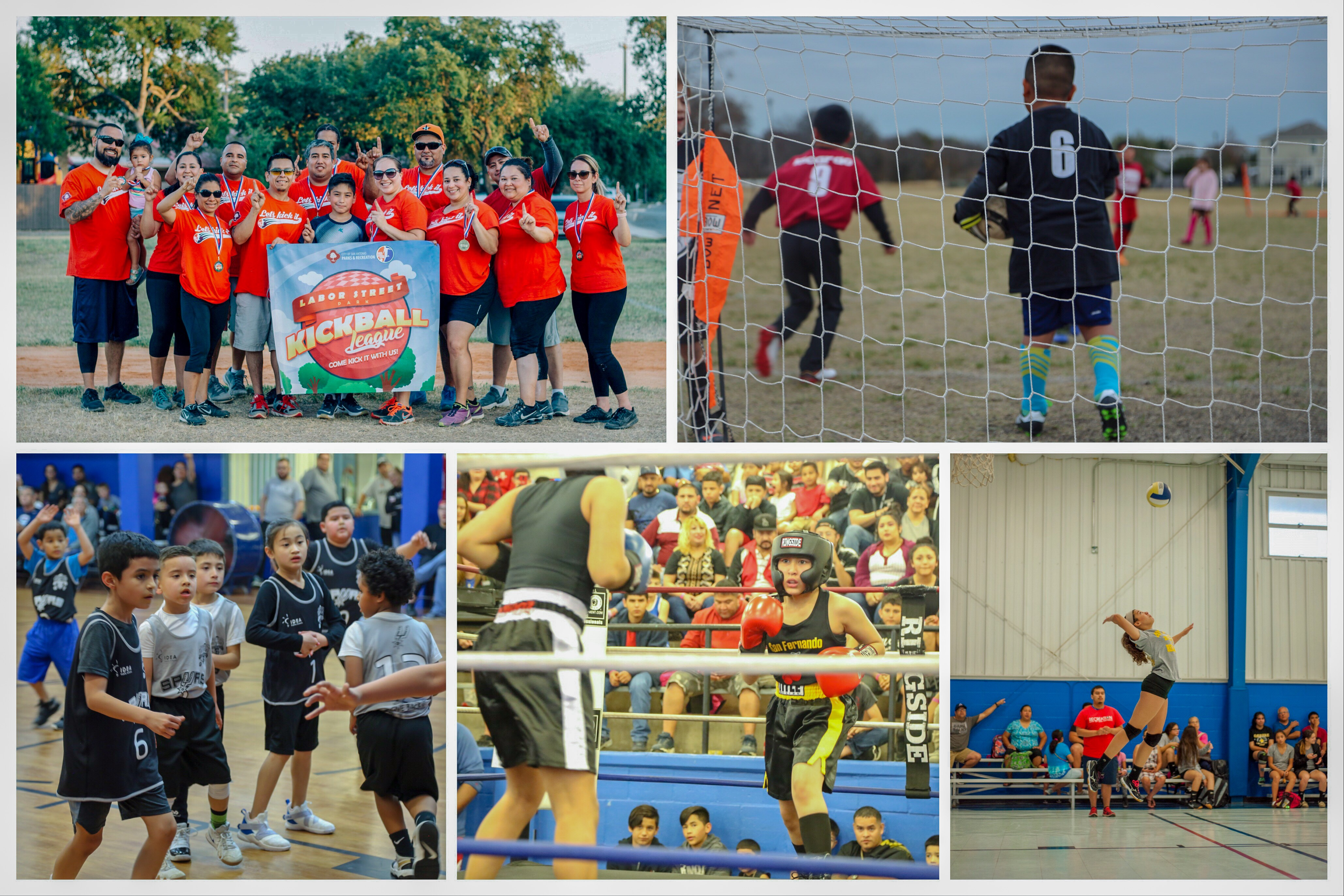 Collage of youth sports