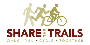 Share the trail. Walk, run, cycle together.