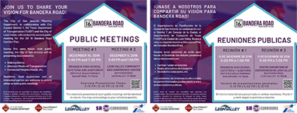 Bandera Road Public Meetings Flyer
